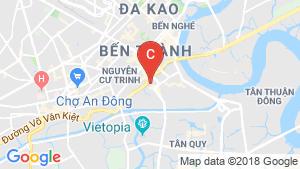 Bản đồ khu vực Cho thuê căn hộ chung cư 2 phòng ngủ tại Dự Án The Gold View, Quận 4, Hồ Chí Minh