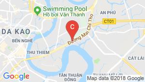 Bản đồ khu vực Cho thuê căn hộ 1 phòng ngủ tại New City, Quận 2, Hồ Chí Minh