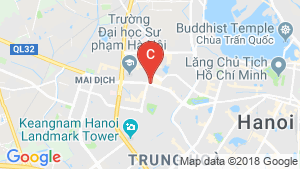 Bản đồ khu vực Mipec Rubik 360 Xuan Thuy Hanoi