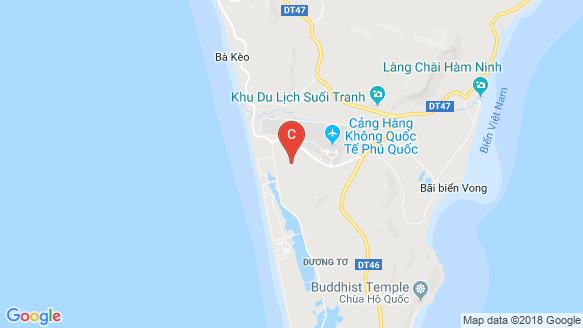 Palm Garden Shop Villas Phu Quoc location map