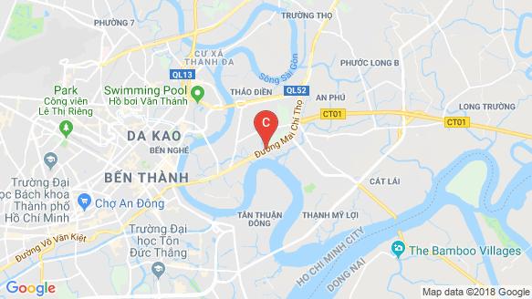 Empire City Thu Thiem location map