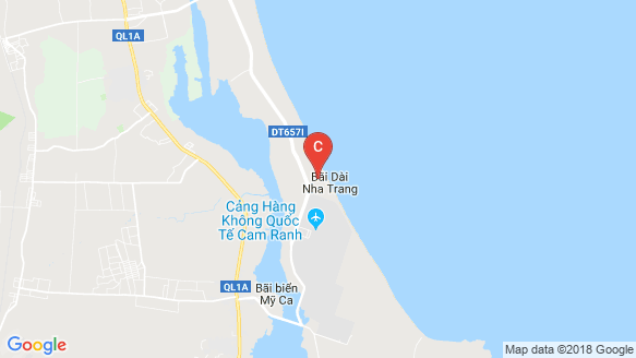 The Arena Cam Ranh location map